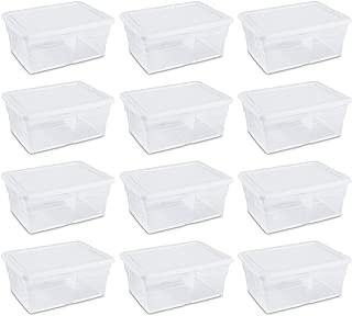 Sterilite 16448012 16 Quart Storage Box (12 Pack)