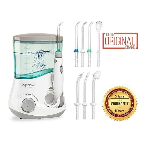 Aquapik 100 - Irrigador dental y Nasal único en el mundo (incluye 7 Boquillas y