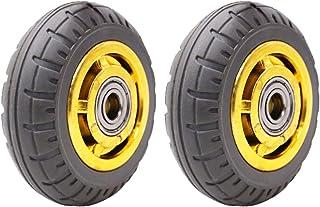 YJJT Rubber trolleywiel, industrieel vervangingswiel, geschikt voor fabrieken, logistiek, karren, hoge elasticiteit, rusti...