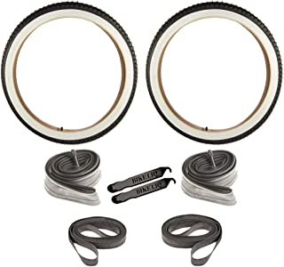 Bike Cruiser Tire Urban Beach Street Wire Bead Durable Tire 24 x 2.125 CST 241 Tube Rim Strip Lever Bundle