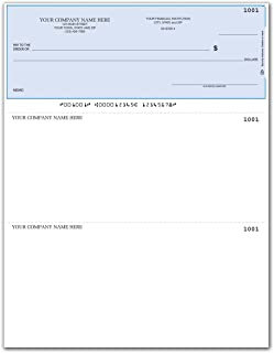 CheckSimple Laser Business Checks, Compatible with QuickBooks/Quicken - Top Format, Lined (250 Qty) - Custom