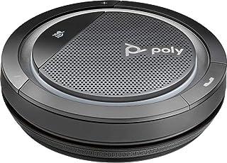 Poly mobiler Konferenzlautsprecher 'Calisto 5300' mit USB C Anschluss, Voll Duplex Audio, Sprachansage, Schwarz