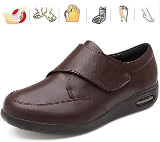 KRILY Chaussures Diabétiques Ajustables Unisexe Extra Large pour Pieds enflés Arthrite Oedème Chaussures Chaussures de Soi...