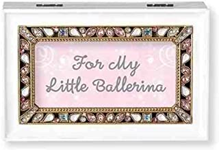 Roman Little Ballerina White Small Jeweled Music Box