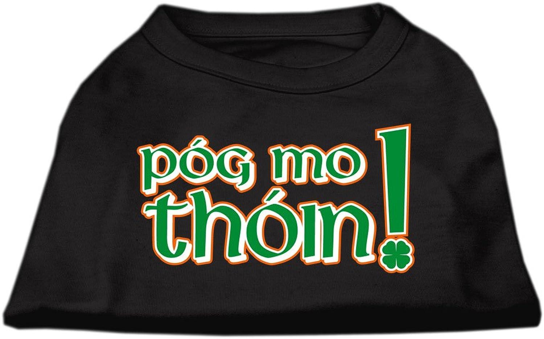 Mirage Pet Products 12Inch Pog Mo Thoin Screen Print Shirt for Pets, Medium, Black