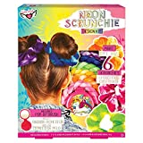 Fashion Angels Neon Tie Dye Scrunchies Kit 12482 DIY Scrunchie Set for Girls, Makes 6 Elastic Hair Bands,Natural
