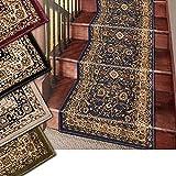 Marash Luxury Collection 25 Escalera de la Escalera del Corredor Alfombras Alfombra Corredor con 336.000 Puntos de Tela por Metro Cuadrado, la Marina de Guerra