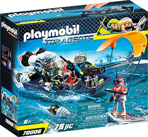 Playmobil Top Agents 70006 Team S.H.A.R.K. Harpoon Craft, vanaf 6 jaar
