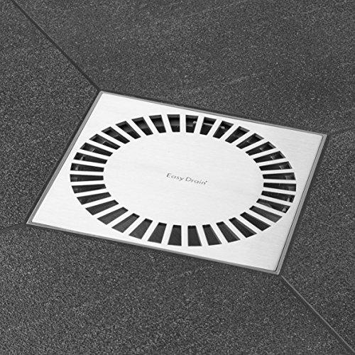 ESS Easy Drain Design Bodenablauf Aqua Briljant 15x15 cm,