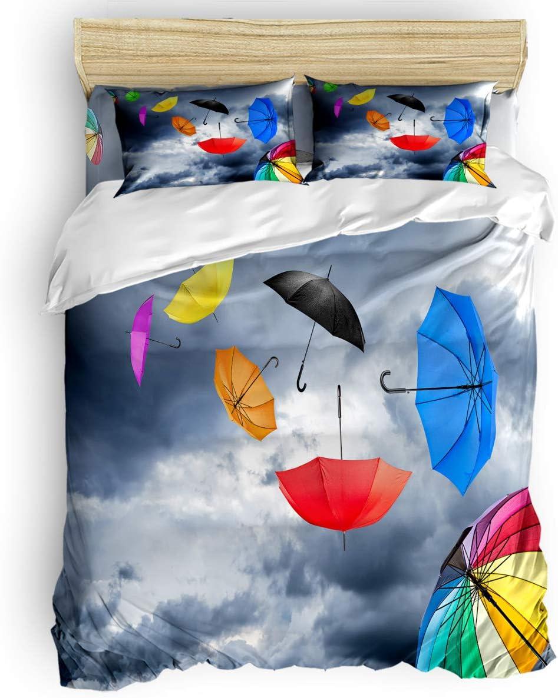 Bedding Set Colorful Umbrella Pattern Cove Comfortable half Max 47% OFF Duvet 4pc