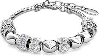 Alaxy Bangle Bracelets Made with Swarovski Crystal, Charm Beaded Bracelets for Teens Girls and Women Size 19cm (7.48'') - 22cm (8.6'')