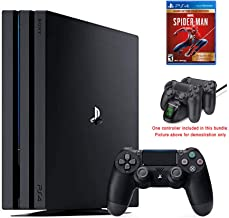 2020 Newest Playstation 4 Pro PS4 Pro 1TB Console International Edition, Marvel Spider-Man Game of The Year Edition w/Ghost Manta Fast Charging Station Dock
