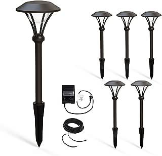 Malibu Celestial 6 Pack LED Pathway Lights, LED Low Voltage Landscape Lighting Garden Light for Driveway, Yard, Lawn, Pathway, Garden 8406-2904-06