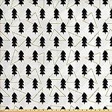 Lunarable Baum Stoff von The Yard, Woodland Muster mit