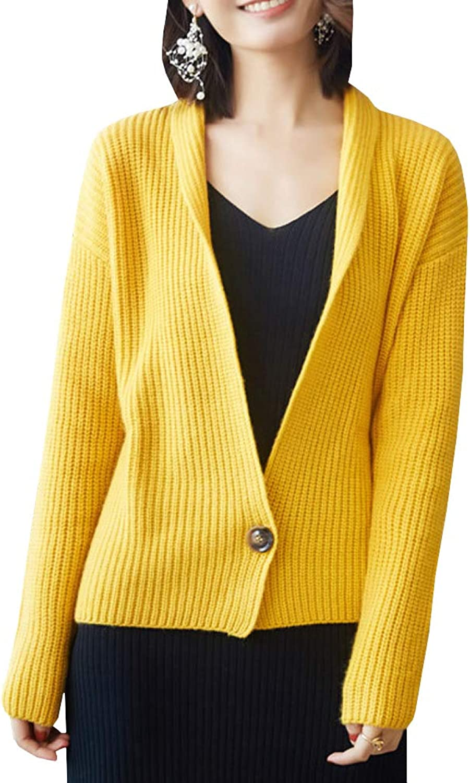 Dissa F4986 Women Cashmere VNeck Loose Long Sleeve Cardigan