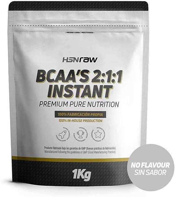 BCAA en Polvo de HSN | Disolución Instantánea | Aminoácidos Ramificados Ratio 2:1:1 | Ayuda a Ganar Masa Muscular + Recuperador Muscular | Apto Dieta ...