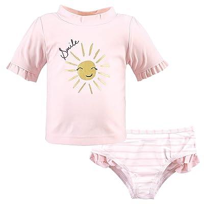 Hudson Baby Hudson Baby Unisex Baby Swim Rashguard Set, Smile Sunshine, 12-18 Months