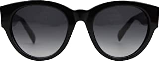 Unisex Spike Detail Black Acetate Sunglasses AM0054S 442136 1007