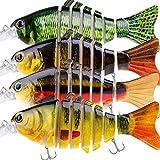 PLUSINNO Fishing Lures Lifelike Bass Lures Multi Jointed Swimbaits Slow Sinking Hard Bait Fishing Tackle Kits