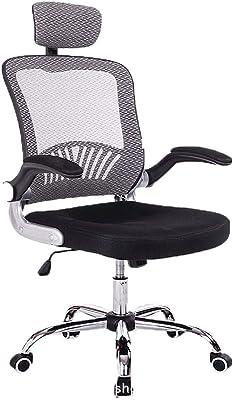 Computer Chair Home Mesh Office Chair Staff Chair Reclining Ergonomic Office Chair Swivel Lifting Armrest Chair,Gray