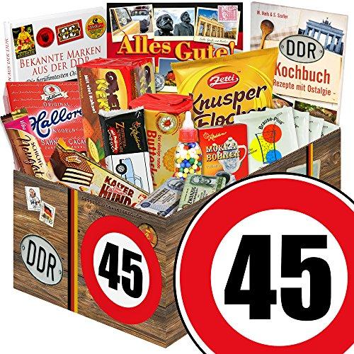 Geschenkideen zum 45. Geburtstag - Süssigkeiten Box mit Waren DDR + Geschenkverpackung