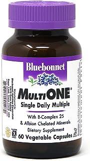 Bluebonnet Nutrition Multi One (with Iron) Vegetable Capsules, Complete Full Spectrum Multiple Vitamin Supplement, B Vitam...