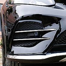 AUTO Pro para Mercedes Benz GLC Clase X253 GLC260 GLC300 2017 ABS Cromado plástico para Accesorios de Coche, Tiras de Rejilla de Entrada de Aire