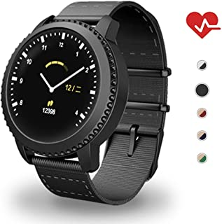 MATEYOU Mate5 IP68 Ring Fitness Tracker for Women, 1.22 in HD Screen, Background Custom, Suitable for Men and Momen Fitness/Sports
