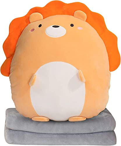 lowest Plush Pillow Blanket Set 2-In-1 Soft Plush Hugging Pillow with Coarl lowest Fleece Blanket Cute Anime Throw Pillow Stuffed popular Animal Doll Toy Girls Boys Gift for Birthday, Valentine, Christmas, Holiday,Portable online sale