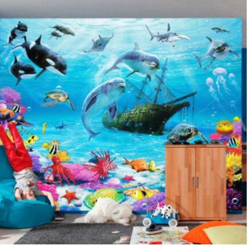 3D Cartoon Underwater World Personalized Customi Mural Sale SALE% OFF Wallpaper Max 69% OFF