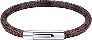 bandmax Men Women Black Brown Braided Leather Cord Rope Necklace Bracelet 2mm/3mm Width Waterproof Wax Rope Necklace for P...