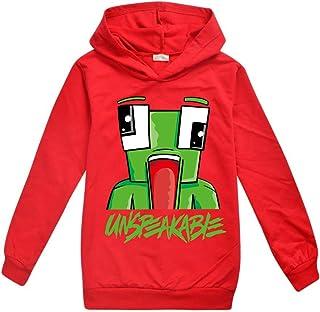Dgfstm UNSPEAKABLE Kids YouTube Gamer Hoody T-Shirt for Boys Girls Tees Tops