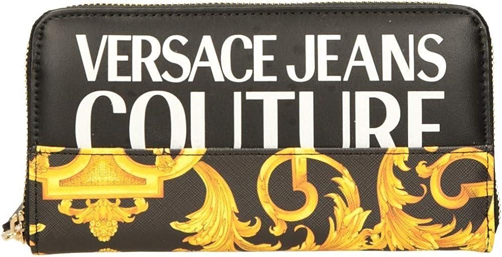 Versace, portafoglio da donna, con  fessure portacarte dei credito, in pelle sintetica EE3VWAPG1-E71727_EM27