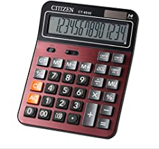 $62 » Basic Calculator 14 Digit Large Display Calculator Solar Battery LCD Display Office Calculator Electronic Desktop Calculator Red Color Business Gift,for Mathematics, Teaching, Office for Daily and Bas