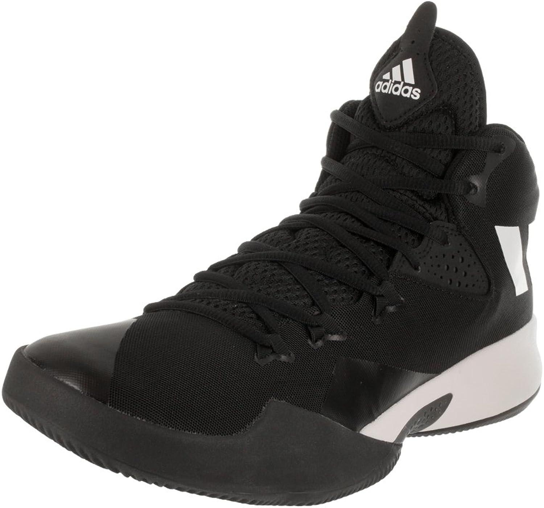Adidas Dual Threat Mid Black White Basketball shoes 10.5