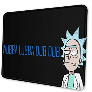 Comic Rick Morty Gaming Mouse Mat Pad Custom Professional Mousepad, Stitched Edges, Ideal for Desk Cover, Computer Keyboard, PC and Laptop (11.81 X 9.84 X 0.18inches)