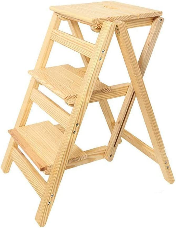 HLL Step Stool for Adults Solid Spring new work one after another Slip Peda Non Superior Wide Portable Wood