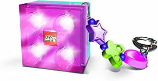 LEGO Friends 2 X 2 Brick Key Light with Charms, Pink/Purple (Colors Vary)