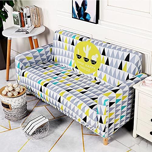 Funda Sofa 4 Plazas Chaise Longue Triángulo Fundas para Sofa Universal,Cubre Sofa Ajustables,Fundas Sofa Elasticas,Funda de Sofa Chaise Longue,Protector Cubierta para Sofá
