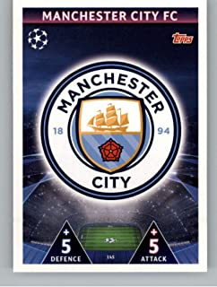 2018-19 Topps UEFA Champions League Match Attax #145 Club Badge Manchester City FC Official Futbol Soccer Card