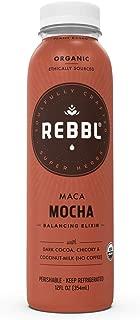 REBBL Super Herb Powered Elixirs   Maca Mocha Energizing Elixir 12 Pack   12 Fl Oz   Gluten Free, Organic, Non GMO, Vegan   750mg 10: 1 Maca Extract