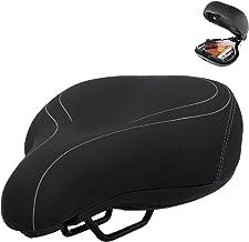 WUSHUN Fietszadel, breed, zacht, comfortabel, ademend, schokdempend, ergonomisch fietszadel, 27 x 21 x 13 cm
