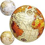 alles-meine.de GmbH 6 Stück _ Erde - Welt - Globus - 11 cm - Ball / Deko Kugel - Farbmix - Dekoration - Geldgeschenk - für Kinder und Erwachsene Hochzeit / lustiger Ball - Weltku.. -