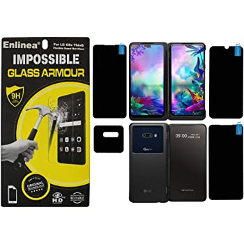 Enlinea® Anti Shock Armor Screen Protector Flexible Screen Guard for LG G8X ThinQ Covers All Screens & Camera All Side Protection. (Glossy)