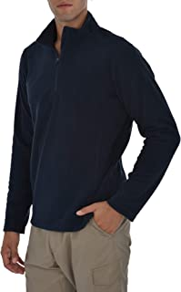 Mens Quarter Zip Performance Polar Fleece Pullover Sweatshirt