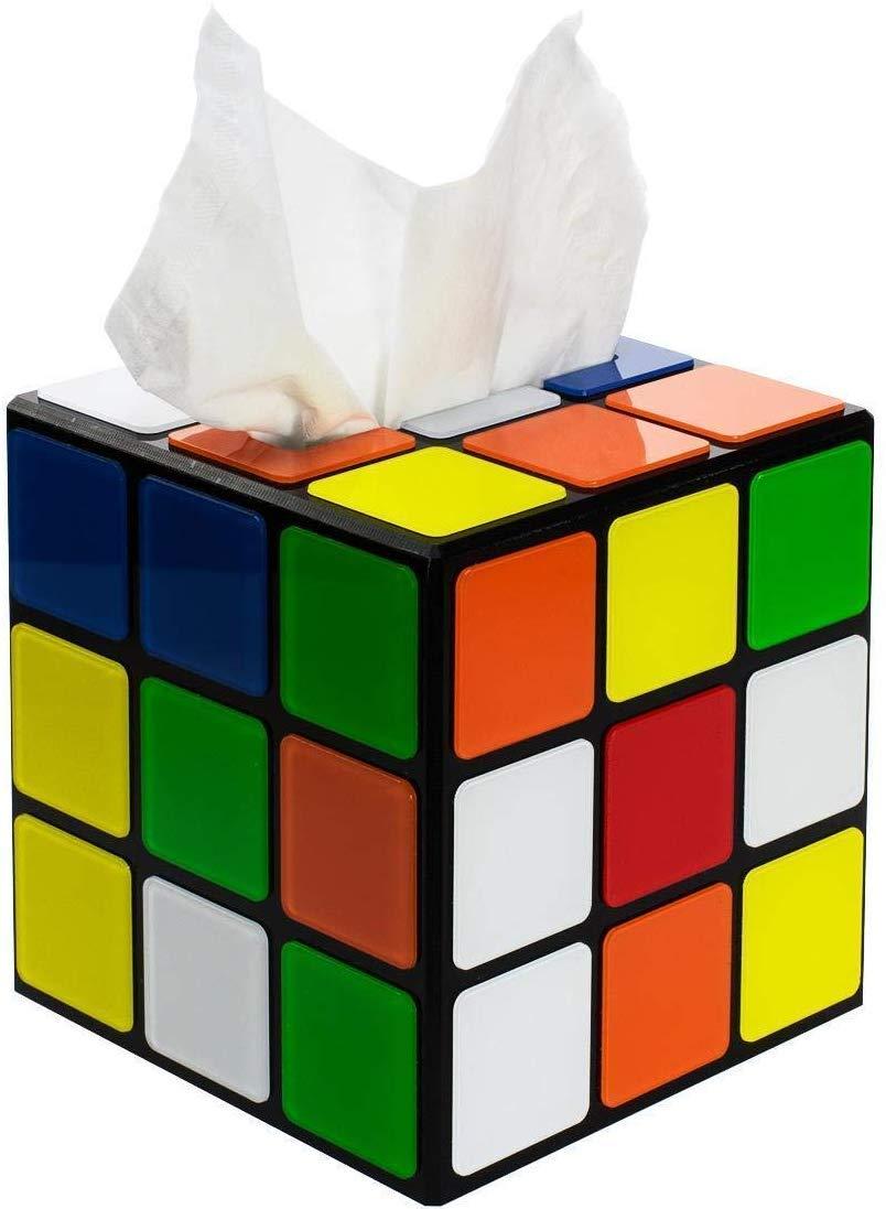 getDigital 8372 - Caja Para Pañuelos Cubo Mágico - Cierre Magnético - Multicolor - 14 x 14 x 14 cm: Amazon.es: Hogar
