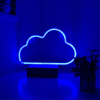 Neon Sign Cloud Lights Blue Wall Art Décor USB & Battery Powered LED Neon Night Light for Kids` Bedroom,Dorm,Wedding Party...