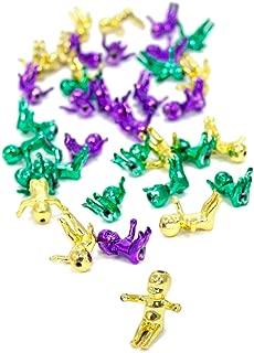King Cake Baby Babies 2.5CM - Metallic 48 Purple Green Gold (4 Dozen) Mardi Gras New Olreans