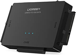 UGREEN USB 3.0 IDE SATA Adapter Harde Schijf Adapter voor 2,5/ 3,5 inch IDE SATA HDD SSD SATA naar USB Adapter met Externe...