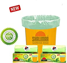 Shalimar Compostable/Biodegradable Garbage Bags (Small) Size 43 cm x 51 cm 3 Rolls (45 Bags) (Trash Bag/Dustbin Bag) (Green)